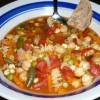 Minestrone Soup with Garlic Tortilla Croutons